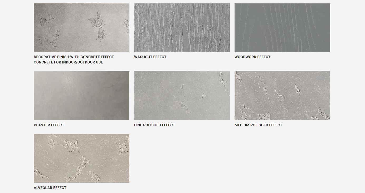 krome refurbishing italian, concrete interior trend, concrete effect paints, decorative paints