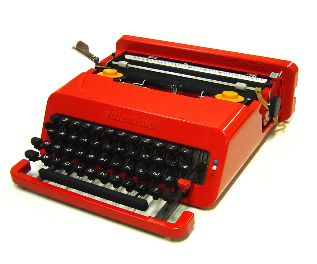 5 iconic design pieces-krome italian refurbishing-olivetti valentine