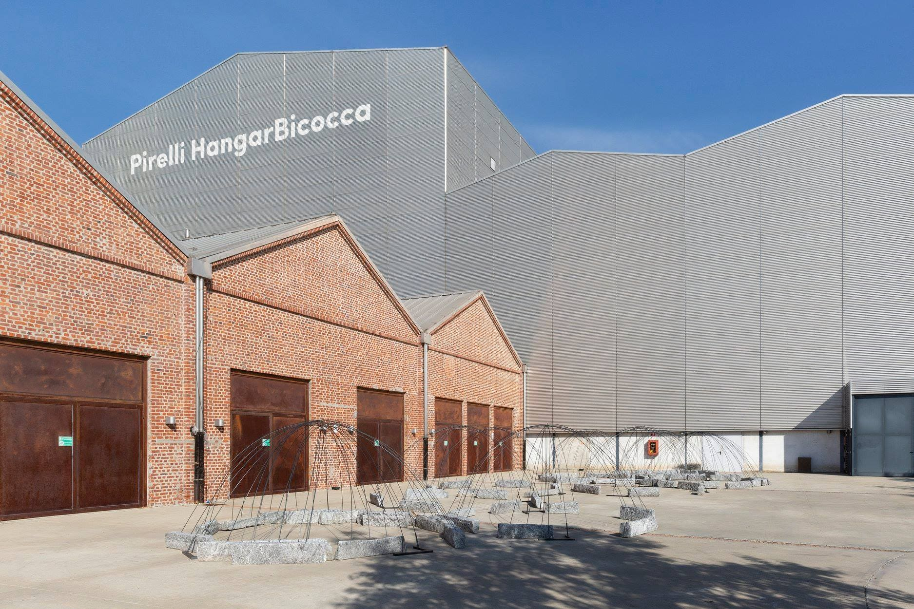 exterior image of the pirelli hangarbicocca italian art gallery in milan